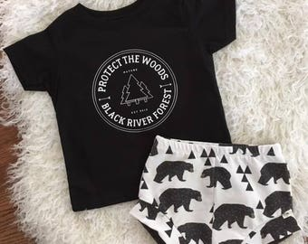 NEW for Summer!! Wild Life Collection/Protect the Woods/Bears/Infant Outfit/Toddler Outfit