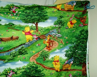 Puppy Bows ~ craft supplies large Winnie The Pooh fabric piece green countryside