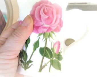 Vintage Rose Mug / Dunoon Mug / Fine Bone Mug / Fine China Mug / Rose Items / Rose Items / Designer Mug /