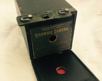 Antique Eastman Kodak Brownie 1899 Patent Version Box Camera