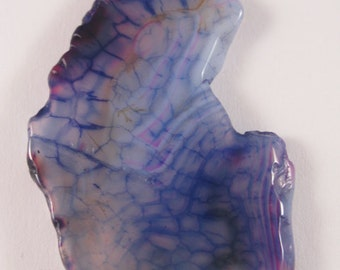 Purple Dragons Vein Agate Pendant (E3.1)