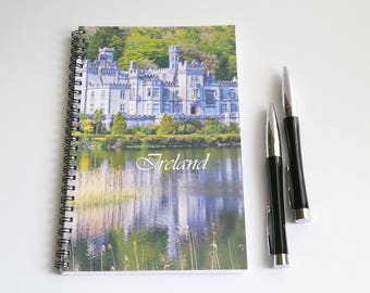 Ireland notebook, Blank Paper Notebook, Sketch book,  Irish gift, Kylemore Abbey, Travel journal, Wanderlust notebook, Dublin journal