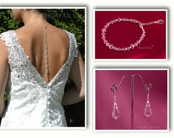 Pretty Backdrop Necklace Lariat and Earrings made with CRYSTALLIZED™ - Swarovski Elements