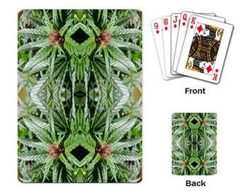 Playing Cards: Marijuana Themed Playing Cards Blue Widow Flower Marijuana Print, Cannabis Cards, Marijuana Cards - Made to Order