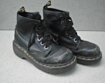 Vintage pair of Dr Martens .Made in England,   1980s.