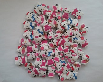 55 Pieces Hello Kitty Shoe Charms Party Favors Cupcake Toppers