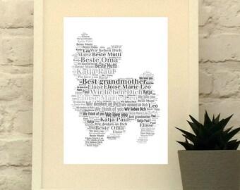 Yorkshire Terrier, Yorkie, Personalised Dog Print, Dog Lover Gift, Yorkie Art Print, Yorkie Gift, dog picture, custom pet portrait, Unframed