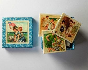 memory game  bathing mermaid beach vintage matching game