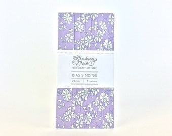 Liberty of London Bias Binding -  Capel V - 3m - 20mm - Liberty Classic Collection 100% cotton Liberty Tana Lawn - 3m 3.28 Yards
