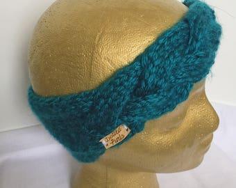 Teal Braid Headband