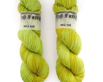 Sock Yarn Superwash Merino/Nylon 85/15 4ply Handdyed Yarn: SPROUT