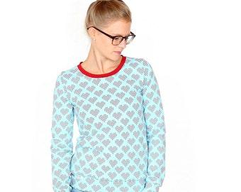 Sweater Wilma / / light blue X-heart