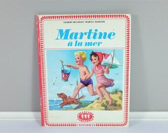 Vintage children book, Martine À La Mer, 1956 - Vintage french children book - Martine from France - 70' illustration