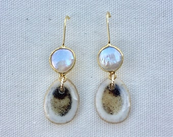 Antler Drops With Pearl On Wire