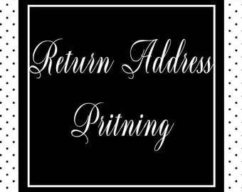 Return Address Printing//Add On//Paperienco//Set of 12