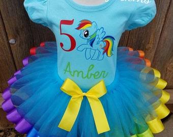 Rainbow Dash Dress, Rainbow Dash Tutu, My Little Pony Tutu, My Little Pony Birthday Outfit, My Little Pony Dress, My Little Pony