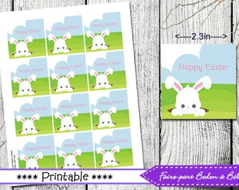 Easter tags easter gift favor tags set of 8 instant download easter tags easter gift tags printable printable tags easter tags homemade easter negle Gallery
