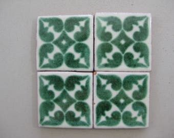75-T11 2x2 Talavera Decorative Green Tile (Shipping Included)