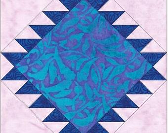 Navajo 15 Inch Block Paper Template Quick Quilting Block Pattern PDF