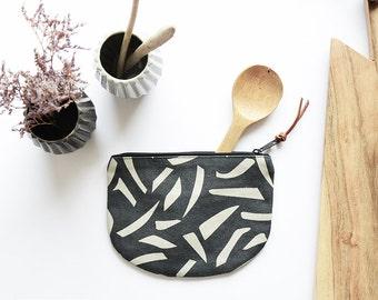 Cotton wallet, zipper pouch