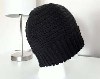 Ponytail Hat / Messy Bun Hat for Teens and Adults - Black