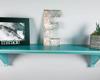 "Floating Wall Shelves – Distressed Standard (5"" Deep) – Floating Shelves – Length 12"""