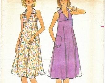 1970's Misses Summer Halter Dress