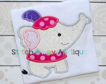Circus Elephant Machine Applique Design