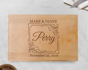 Wedding Gift - Wood Cutting Board Walnut or Maple - Wedding Gift Ideas