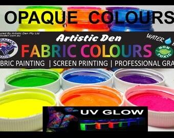 250ml - 1L Uv Glow Fabric Paint Neon Fabric Paint Textile Fabric Paint Neon Glow Screen Ink Print Ink
