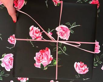 Classic Garden Rose Gift Wrap