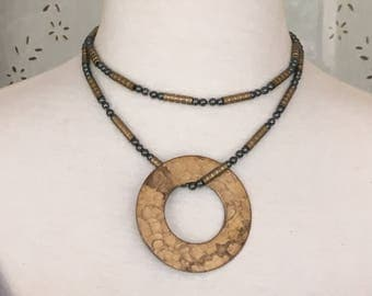 Brass Circle Pendant