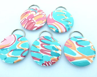 """Lilly Pulitzer """"Peel and Eat"""" Fabric Bottle Openers"""