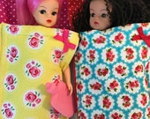 Childrens range. Cosy sleeping bags in different patterns for Barbie/ Sindy /Princess dolls.