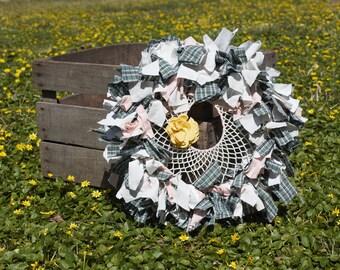 SALE!! Spring Dream Catcher Rag Wreath