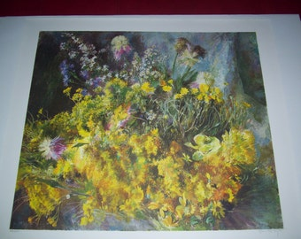 Henriette Wyeth hand signed collotype print September Bloom with COA rare