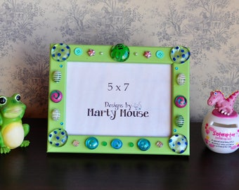 Octopus Picture Frame/5x7 Frame/Kids Picture Frame/Funky Picture Frame/Colorful Picture Frame/Green 5x7 Frame/Mr. Octopus