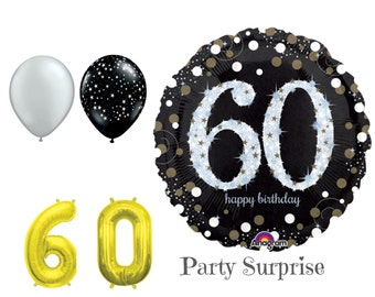 60th Birthday Balloon Package 60 Birthday Balloons Happy Birthday 60 Years
