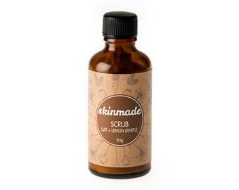 skinmade SCRUB - Oat + Lemon Myrtle - 100% natural and organic