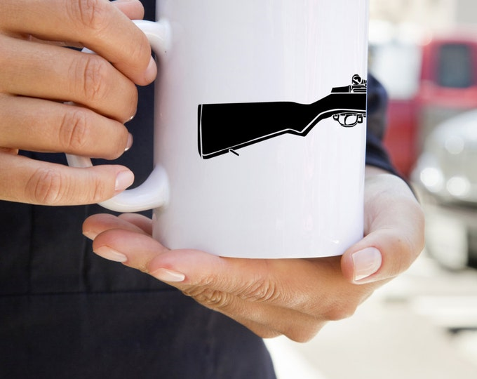 KillerBeeMoto:  U.S. Made M1 Garand World War Two Rifle On A Coffee Mug