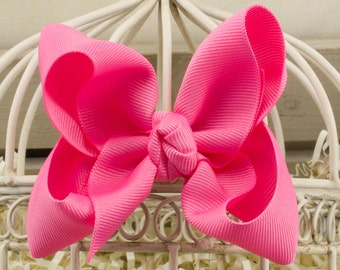 Hot Pink Boutique Hair Bow
