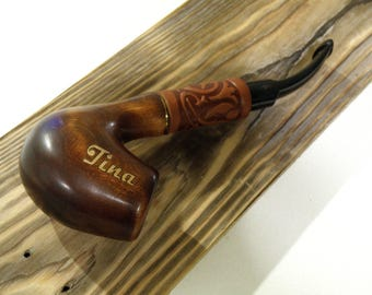 Pipe Personalized,Engraved Wooden Pipe Tobacco pipes Smoking pipe Wood pipe Carved wood , wedding