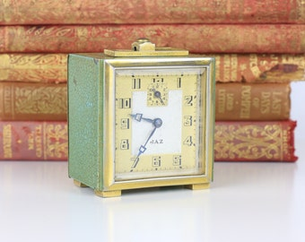 Vintage Jaz Clock - Small with Green and Gold detailing