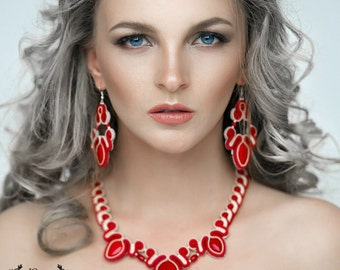 necklaces earrings soutache
