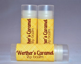 Werther's Caramel Type - Lip Balm - Caramel Lip Balm - Natural Lip Butter - Bath and Beauty