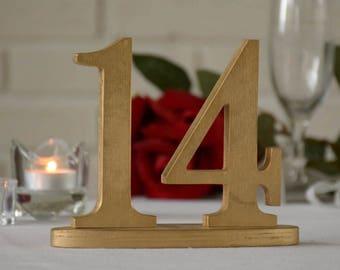 Wedding Table Numbers, SET 1/25, Elegant Wedding Table Numbers, Gold Table Numbers, Silver Table Numbers