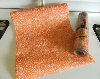 Orange shelf liner / drawer liner by Rubbermaid / craft paper