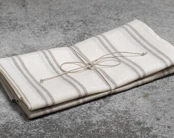 Linen kitchen towel set, 2 linen towels, pure linen towel, gray towel, rustic linen towel, flax towel, eco friendly towel,flax kitchen towel