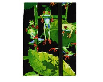 Kindle Case, Kindle Voyage Case Amazon Fire HD 7 8 Case, iPad Mini Case, Voyage Cover, Kindle Fire iPad Mini Cover Rainforest Tropical Frogs