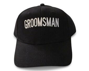 Wedding Groomsman Embroidered Baseball Cap